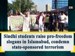News video: Sindhi students raise pro-freedom slogans in Islamabad, condemn state-sponsored terrorism