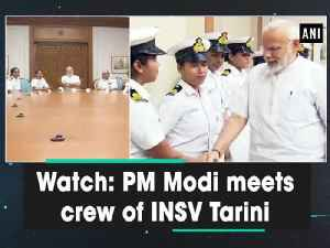 News video: Watch: PM Modi meets crew of INSV Tarini