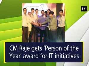 News video: CM Raje gets Person of the Year award for IT initiatives