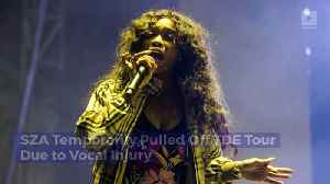 News video: SZA Temporarily Pulled Off TDE Tour Due to Vocal Injury