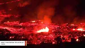News video: Incredible Video Shows Night View Of Lava From Hawaii Volcano