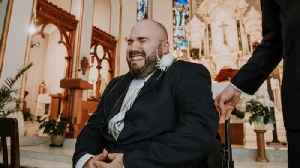 News video: Groom in Wheelchair Sobs as He Sees Wife During Canada Wedding