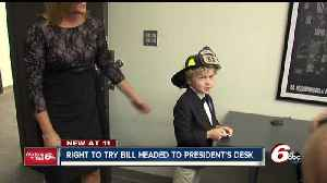 News video: Bill inspired by Indy boy with incurable disease heads to President Trump's desk