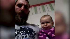 News video: Baby Girl and Her Dad Blow Raspberries At Each Other