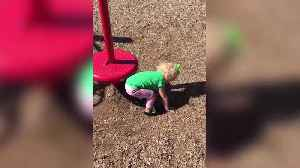 News video: Tot Girl Gets Dizzy On Roundabout And Keeps Falling On The Ground