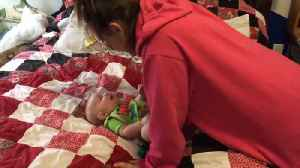 News video: Baby Boy Only Laughs For Mom
