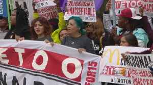 News video: McDonald's Employees Protest Sexual Harassment In The Workplace