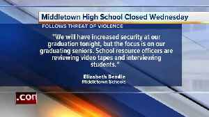 News video: Threat closes Middletown High School Wednesday