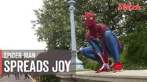 News video: Friendly neighborhood Spider-Man helps spread joy wherever he goes