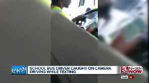 News video: Bus driver fired after texting while driving school bus