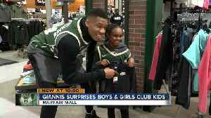 News video: Giannis Antetokounmpo surprises kids with shopping spree, signed jerseys
