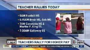 News video: Teachers rally for higher pay