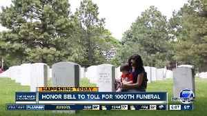 News video: Fort Logan National Cemetery honor bell to ring for the 1,000th time