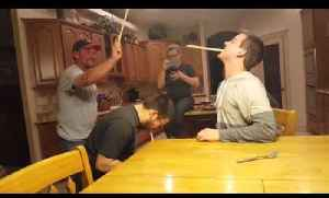 News video: Unsuspecting Dude Gets Pranked During Wooden Spoon Game