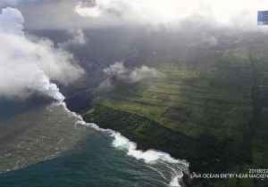 News video: Steam Rises as Lava Enters Ocean Near Hawaii's MacKenzie State Park
