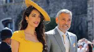 News video: George Clooney Poured Shots At Royal Wedding After-Party