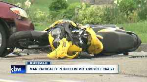 News video: Motorcycle crash near Botanical Gardens