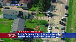 News video: Officers Surround Antioch Home After Car Fleeing Police Rams Squad Car