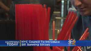 News video: Plastic Straws Next To Be Banned?