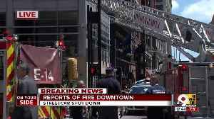 News video: Fire reported at downtown Cincinnati restaurant