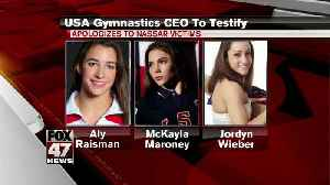 News video: USA Gymnastics CEO testifying Wednesday