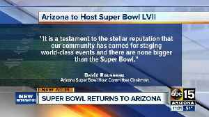 News video: Super Bowl returning to Phoenix in 2023