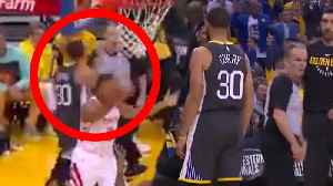 News video: Stephen Curry ALMOST KILLS Ref With PUNCH to the FACE | 2018 NBA Playoffs