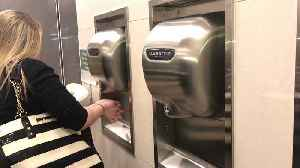 News video: Potentially Dangerous Bacteria in Bathroom Hand Dryers Across NYC