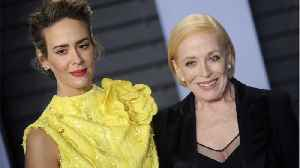 News video: Sarah Paulson Couldn't Care Less What People Think Of Her Age Gap With Holland Taylor