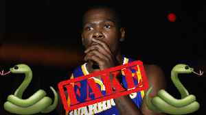 News video: Kevin Durant BLASTS NBA Fans For Calling Him Fake!