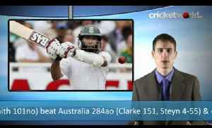 News video: Cricket Video - South Africa Win Incredible First Test Match - Cricket World TV