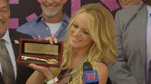 """News video: Stormy gets """"keys"""" to West Hollywood"""