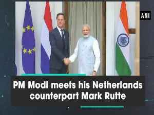News video: PM Modi meets his Netherlands counterpart Mark Rutte