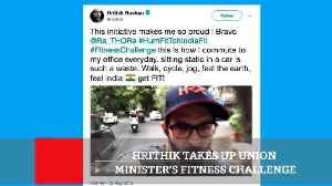 News video: Hrithik Takes Up Union Minister's Fitness Challenge