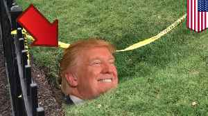 News video: Sinkhole cracks open on the lawn of the commander-in-chief