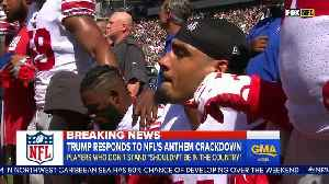 News video: Trump: NFL Players Who Kneel During National Anthem Maybe 'Shouldn't Be In The Country'