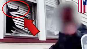 News video: Cop tells guy to break into his ex-gf's home, she pulls a rifle