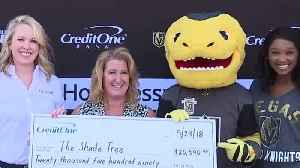 News video: Vegas Golden Knights, Credit One Bank donate $37K to charity