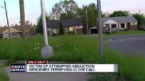 News video: Man tries to kidnap Detroit 16-year-old on her way to school, teen fights back