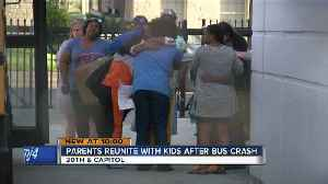 News video: Parents reunited with students after school bus crash near DeForest