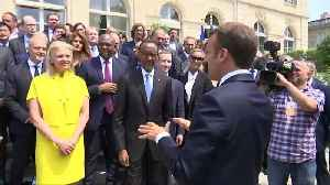 News video: Macron tells tech CEOs to give more to society