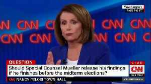 CNN Town Hall Questioner Asks Nancy Pelosi: Shouldn't There Be Proof of Russia Collusion by Now [Video]