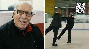 News video: 95-year-old federal judge feels young on the ice rink