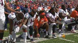 News video: Broncos Players React To NFL National Anthem Policy