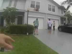 News video: WATCH: Delray Beach Police save children, woman from ledge over a garage