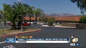 News video: Threat to middle school in Lakeside investigated