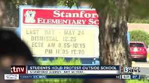 News video: 4th graders, parents hold protest outside elementary school