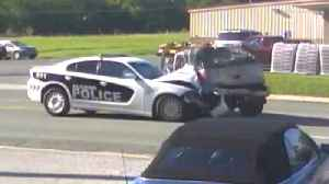 News video: Speeding Cop on His Way Home Crashes Into Driver