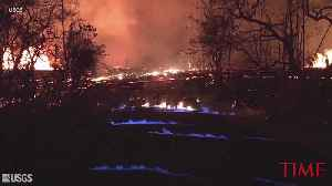 News video: Hawaii volcano generates blue flames from burning methane