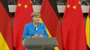 News video: Angela Merkel tells China that Europe supports nuclear deal with Iran